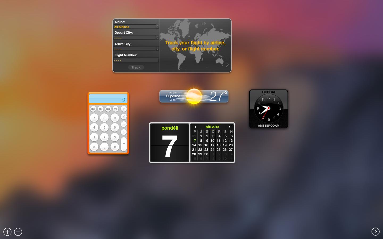Jak snadno přidat widget na další obrazovku prostřednictvím Mission Control na OS X?