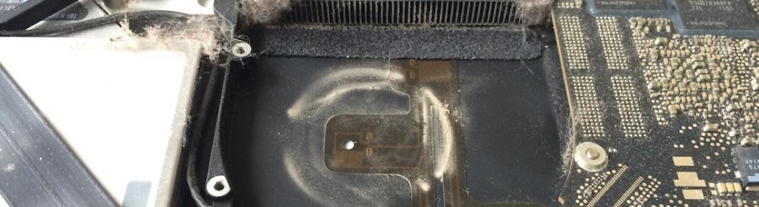 Čištění MacBooku od prachu