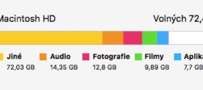 Startovací disk je téměř plný – startup disk is allmost full