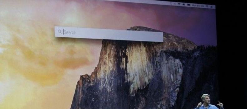 Převody jednotek a výpočty prostřednictvím Spotlight v OS X El Capitan.